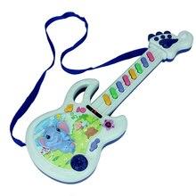 Дети играть детские акустические Пластиковые Слон музыкальная клавиатура гитара музыкальный инструмент детские игрушки подарок цвет отправка случайным образом
