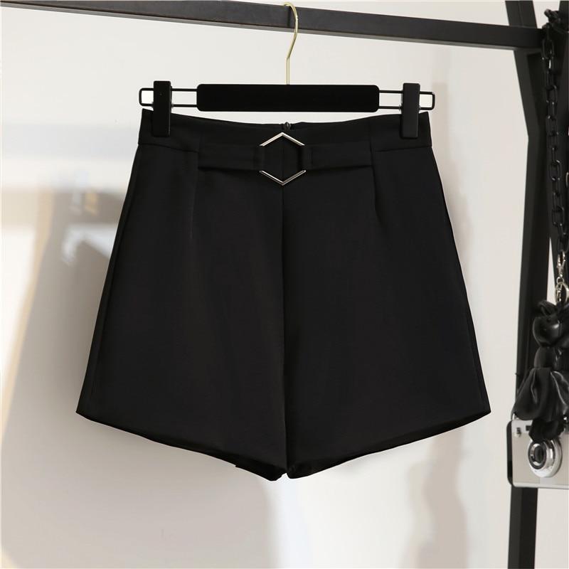 2019 New Fashion Women's Summer Shorts Elegant Thin High Waist Suit Shorts Female Loose Casual
