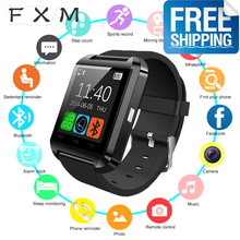 цена на 2020 FXM U8 Smart watch Bluetooth Smartwatch U80 for IPhone 6 /5 S Samsung S6 /Note 4 HTC android Phone Smartphones Android men