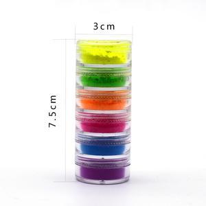 6 Цвет/набор микс неоновый Пигмент Тени для век макияж Палитра Блеск матовые тени для век порошок Чистка для лица и тела для ногтей косметических инструментов TSLM1