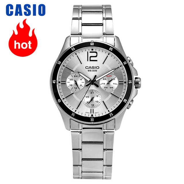 Casio นาฬิกาผู้ชายนาฬิกาตัวชี้ Series Chronograph ธุรกิจนาฬิกา Casual ชายนาฬิกา MTP 1374D 7A