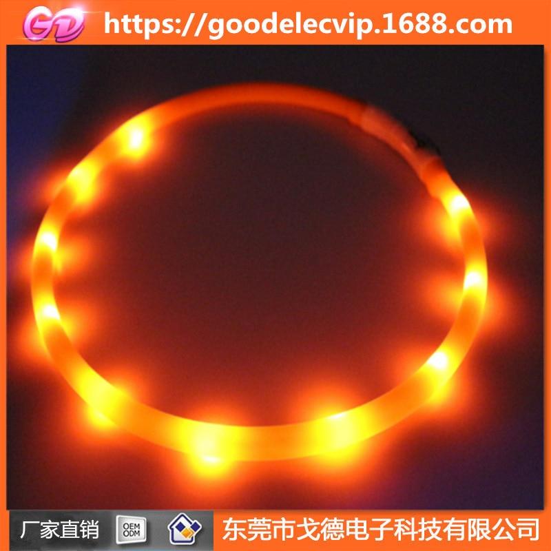 Usb-charging LED Pet Collar Silica Gel Luminous Collar Night Anti-Lost Dog Useful Product Shiny Dog Collar