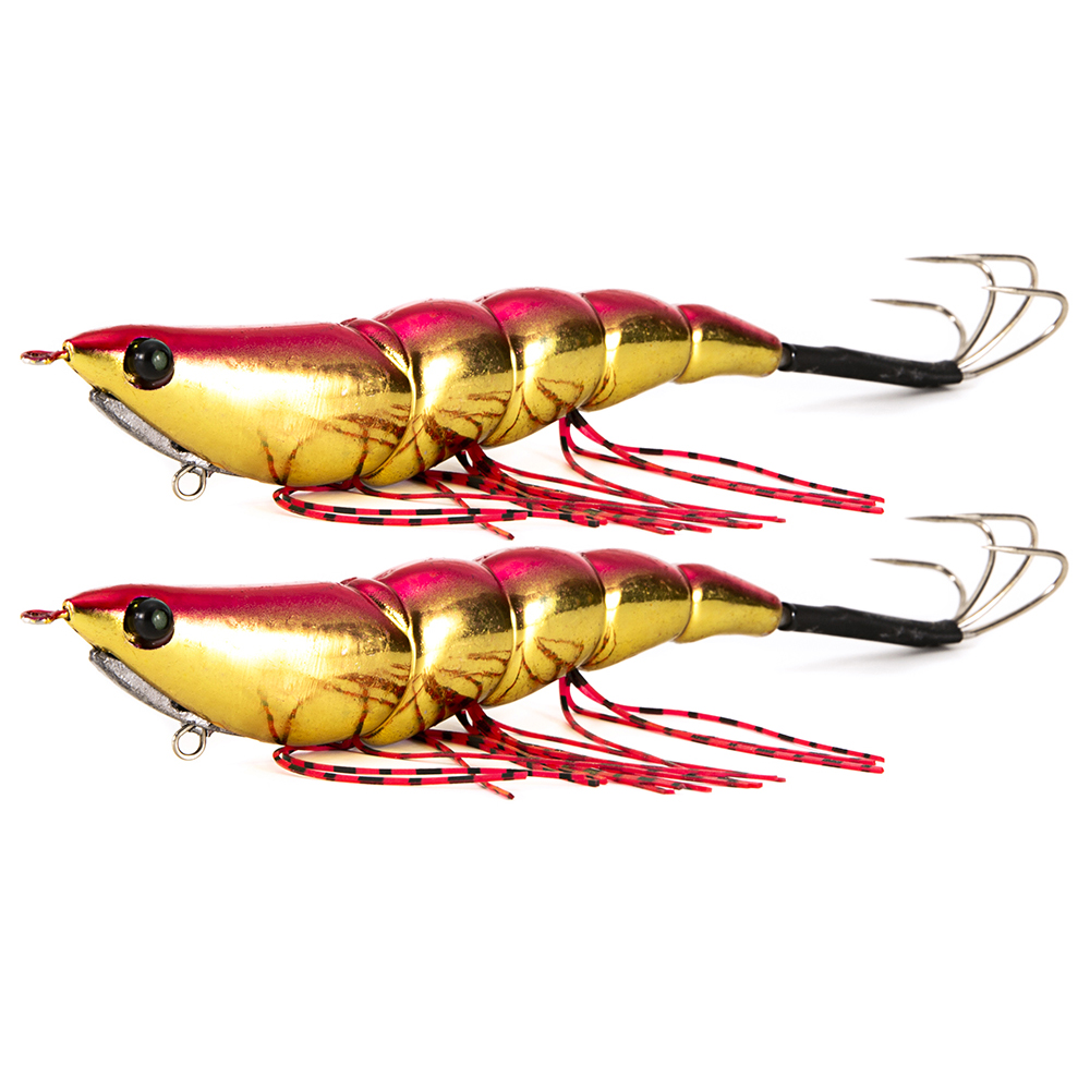 2pcs 15cm Luminous Jigs Lure Fishing Shrimp Lure Bait Plastic Noctilucent Shrimp Bait Squid Shrimp Jig