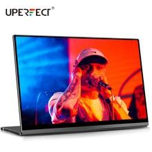 UPERFECT taşınabilir monitör dokunmatik ekran yerçekimi sensörü otomatik döndür 15.6 ''ince 10 noktalı dokunmatik UHD çift USB C ekran