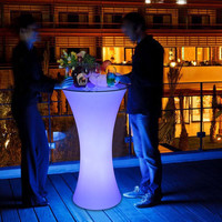 110CM height Rechargeable LED illuminated cocktail bar table nightclub coffee shop creative Commercial Furniture