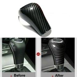 Pokrywa gałki zmiany biegów z włókna węglowego dla mercedes benz W204 W212 a C E G GLS Class w Nakładki  wirniki i kontakty od Samochody i motocykle na