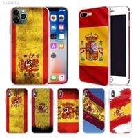 case iphone 5 Spain Spanish Flag Case for Apple iphone 11 Pro X XS Max XR 7 8 6 6S Plus 7S 5 S SE 5C Soft TPU Coque Phone Carcasa Cover (1)
