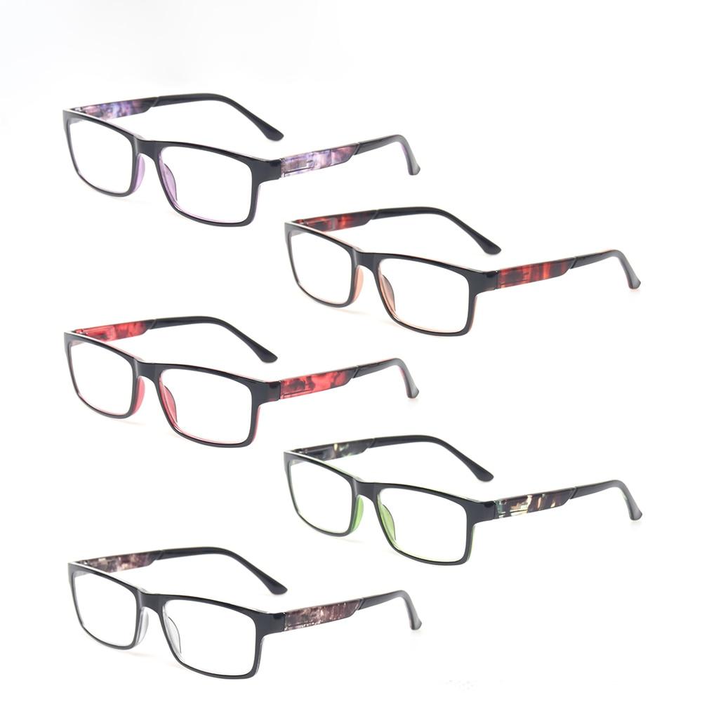HENOTIN-Marco de plástico Unisex para gafas de lectura, diseño de bisagra con resorte (dioptría 0 -- + 600, 5 colores disponibles)