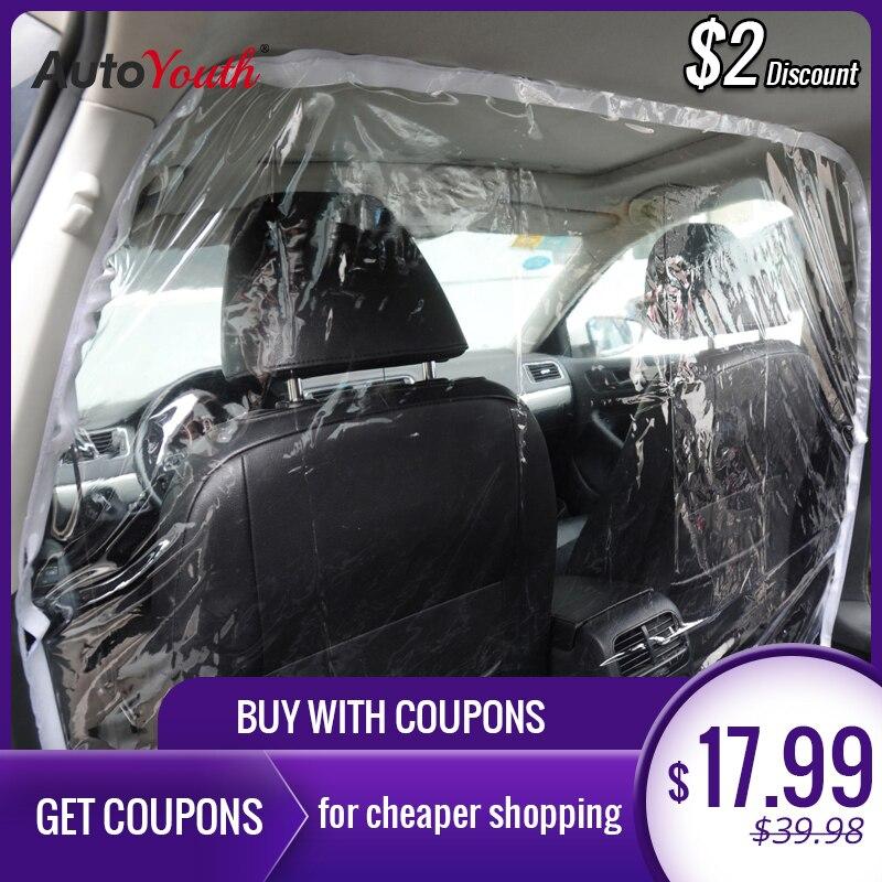 AUTOYOUTH Taxi Isolamento Pellicola di Plastica Anti-Fog Surround Completo Coperchio di Protezione Netto Cabina Anteriore e Posteriore Fila di Isolamento Auto pellicola