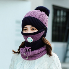 Neck-Warmer Hat Face-Mask Knitted Winter Women Scarf Outdoor Beanies Cycling-Skating