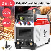 2w1 ARC/TIG falownik igbt Arc spawarka elektryczna 220V 250A spawacze MMA do spawania praca elektronarzędzia elektryczne