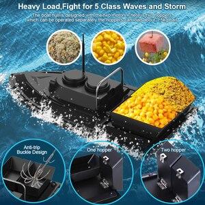 Image 4 - D11 RC appât bateau chercheur de pêche 1.5kg chargement 500m télécommande bateau Double moteurs 2 lumières Led vitesse fixe outils de pêche