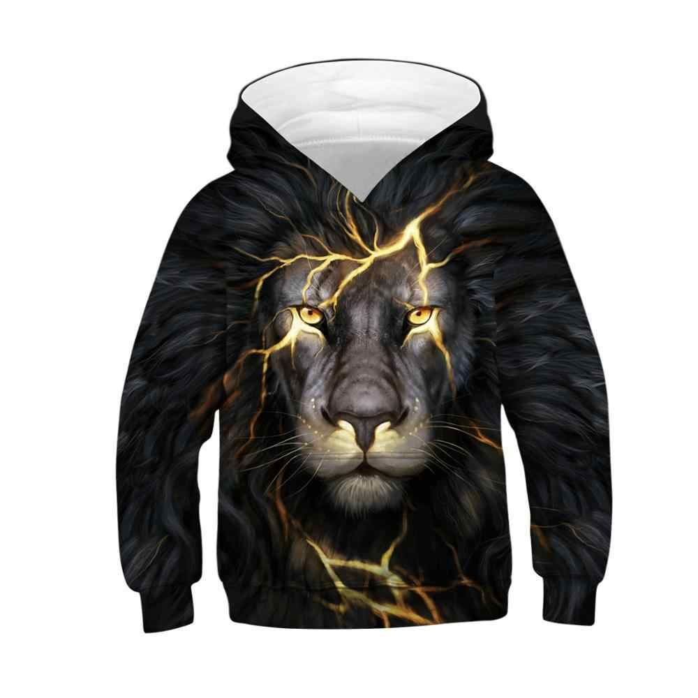3D Wolf Kids Jas Digital Printing Lion King Jongens Jas Casual Mode Lente Herfst Jongens Sweatshirt 5-14 Jaar kid Kleding