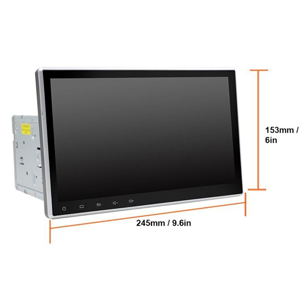Eunavi 10,1 дюймов 2 Din Универсальный Android 10 автомобильное радио ПК GPS навигация 2din стерео Bluetooth USB головное устройство 1024*600 IPS без DVD