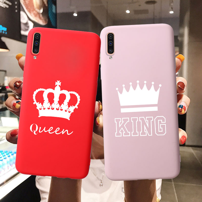 Matte Soft TPU Silicone Case For Samsung Galaxy J2 J4 Core J5 Prime J3 2017 <font><b>J8</b></font> J6 Plus 2018 J7 Duo KING Queen Crown Cover Case image
