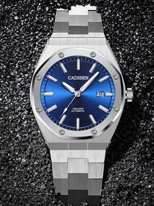 CADISEN Дизайн Роскошные Брендовые мужские часы автоматические механические синий часы для мужчин 100 м Водонепроницаемый повседневное бизнес ...