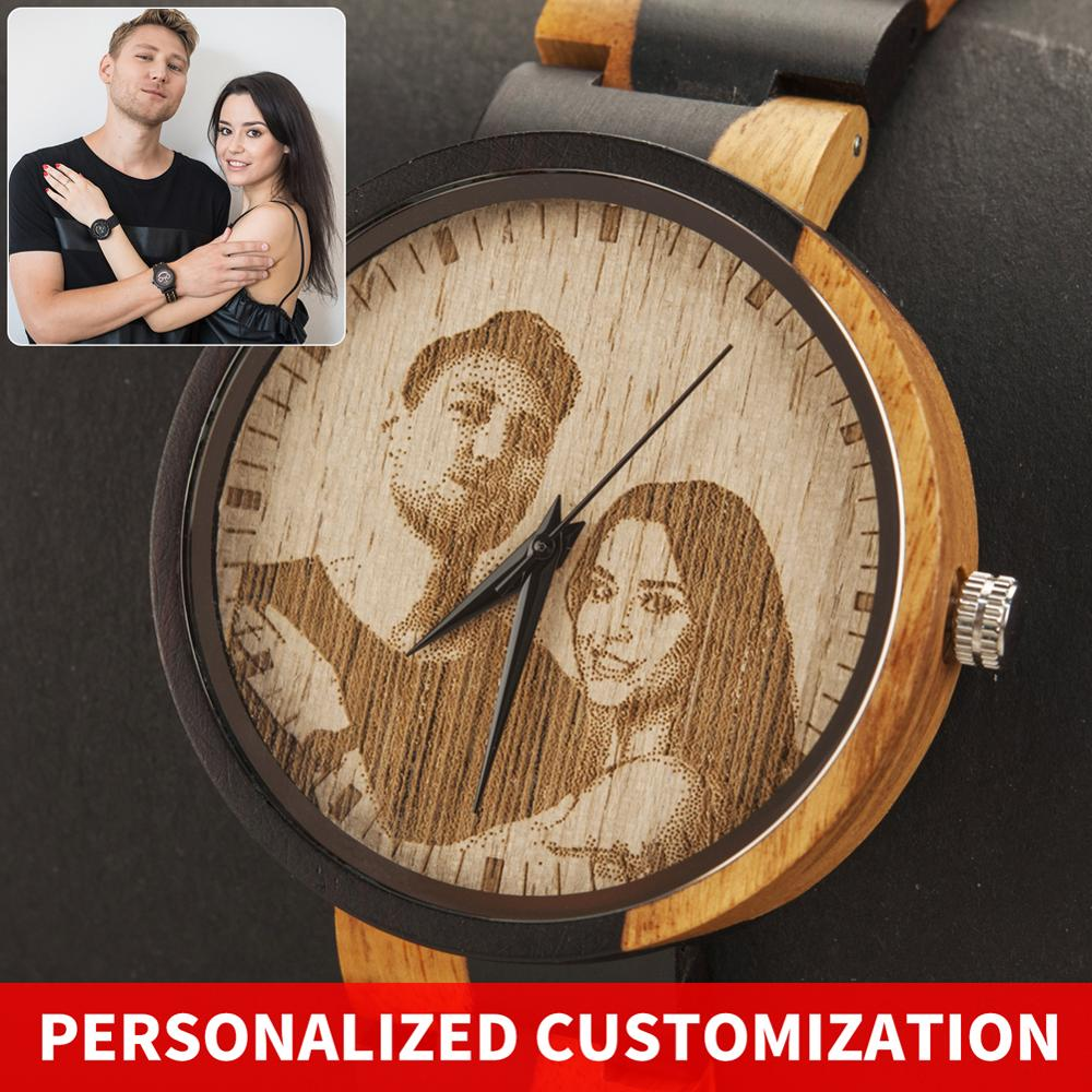 Personality Engraving Customize Watch Men BOBO BIRD Customers Photos Customization Wooden Watches Gift for Him  fo reloj mujer|Quartz Watches| |  - title=