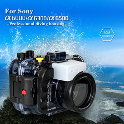 For Sony a6000 a6300 a6500 Waterproof Underwater Camera Case 60M Diving Camera Bag Protective Cover Compatible Lenses 16-50mm1PC