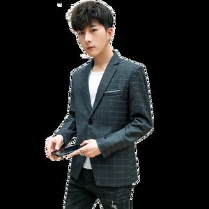 Image 3 - Yeni Slim Fit rahat ceket erkekler Blazer ceket tek düğme erkek takım elbise ceket sonbahar ekose ceket erkek Suite M 3XL damla kargo