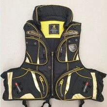 Рыболовный костюм удобный мульти-карман съемный сэндвич в жилет плавучести спасательный жилет рыболовная одежда зимние Рыболовные костюмы