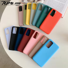 Candy Color Silicone Case untuk Samsung Galaxy Note 20 10 Plus S20 Ultra S10 Lite S10E A51 A71 A21S A31 a50 A70 A20 A30 A81 Cover(China)
