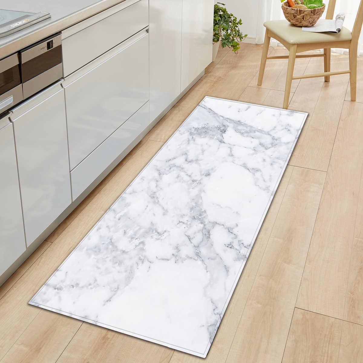 Tapis de sol imprimé à motif de marbre  Tapis de sol antidérapant