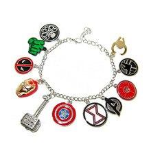 Moda feminina super-herói cosplay vintage encantos pulseira pulseiras esmalte corrente links pulseiras jóias de natal