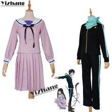 Yizhang Anime Noragami Iki Hiyori ARAGOTO Yato rolü Cosplay kostüm japon Sailor üniforma seti giysi