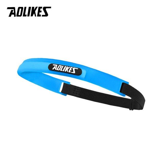 AOLIKES silicone guiding sweat head band sweatband elastic headbands Outdoor Sports Headwear Sweatband Belt Silicone Guiding Swe 3