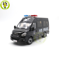 1/24 Iveco Commercial Van SWAT Vehicle Diecast Model Car Bus Toys Gifts