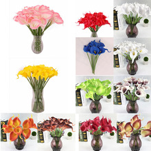 New Artificial Fake Flowers For Wedding Home Decor Bridal Bouquet Party Decorative Flowers PU Artificial Flowers Yellow Rose Red