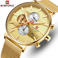 Top Brand Luxury NAVIFORCE Watch Men Fashion Quartz Men's Watch Sports Waterproof Steel Military Wristwatches Relogio Masculino
