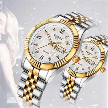 WLISTH Stainless Steel Gold Women Watch Couple Watch Business Men Watch Female Waterproof quartz wrist watch relogio masculino read watch women watch quartz female da vinci series r7003l