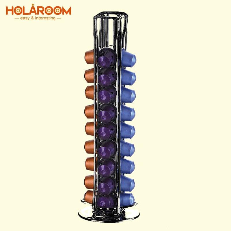 Práctico soporte de cápsulas de café para cápsulas de almacenamiento se adapta a 40 cápsulas de espresso soporte de Torre