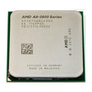 AMD A8-Series A8-3870K A8 3870K A8 3870 Quad-Core CPU 3.0G Desktop Set Display Apu AD3870WNZ43GX Socket FM1 905pin Free Shipping