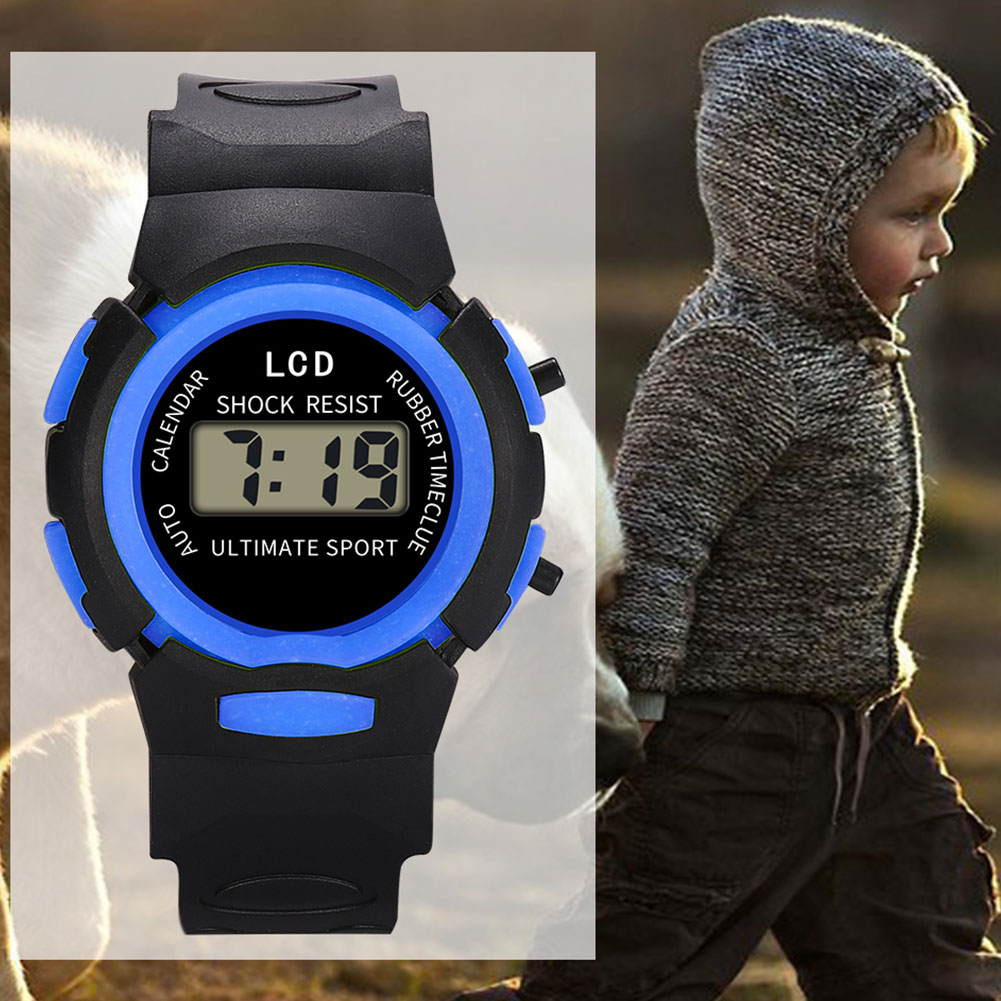 Fashion And Durable Kids Casual Electronic Watch Children Comfortable Silicone Sports Watches  KS-shipping
