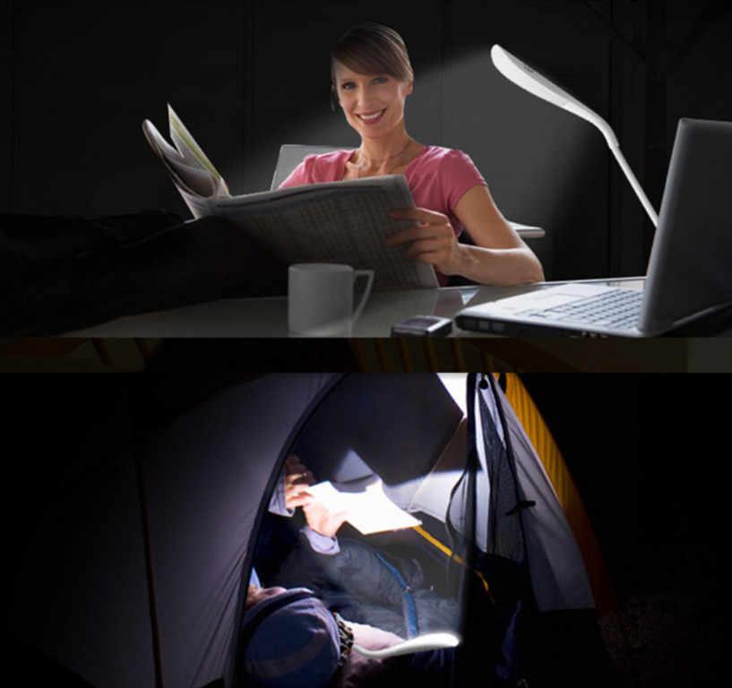 נייד מיני USB Led מנורת גמיש LED ב-קו ספר אור USB אור אולטרה בהיר 14 נוריות עבור מחשב נייד נייד מחשב