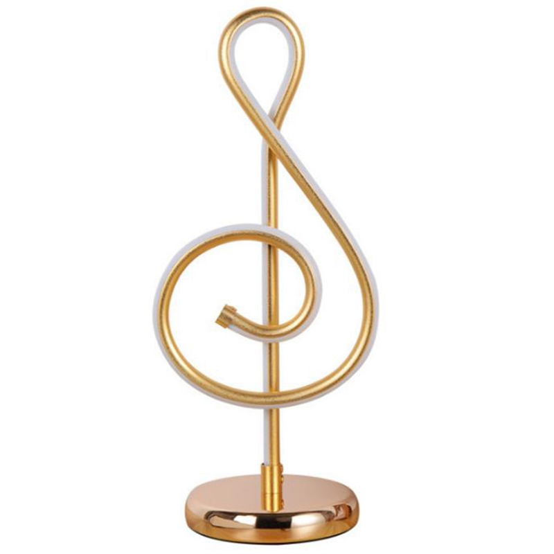 Musical Notes Table Light Bedside Bedroom Table Lamp Home Decoration Light Living Room Study Reading Light Eu Plug image