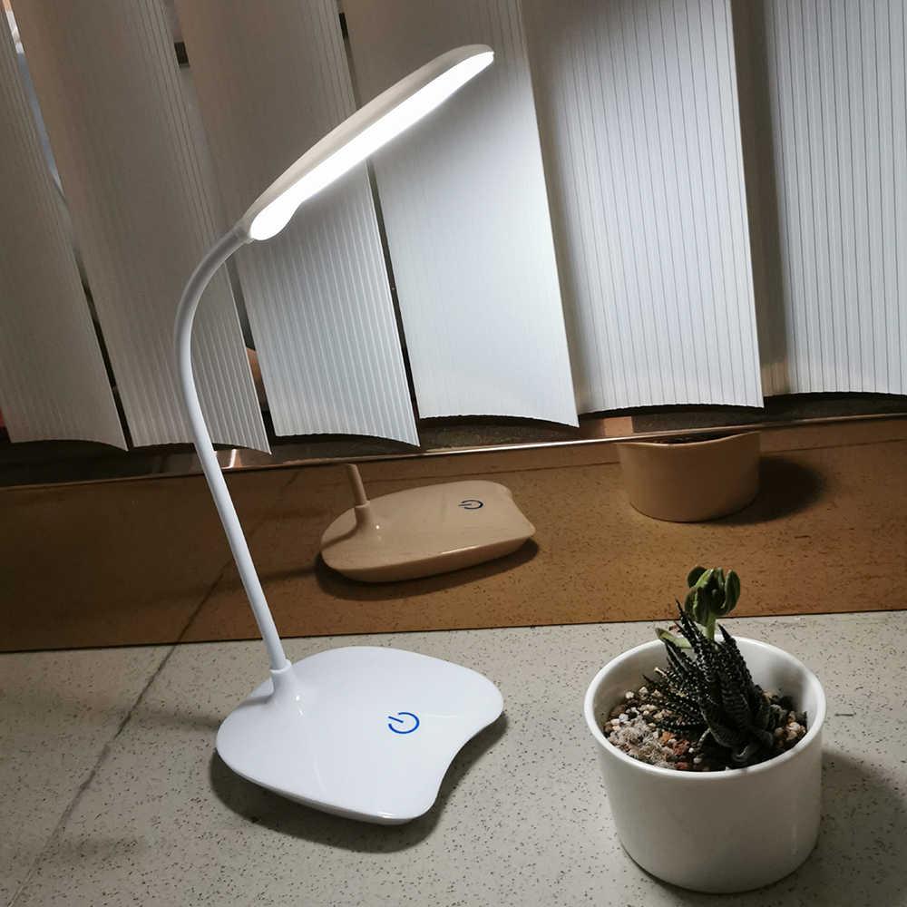 Flexibele Bureaulamp Led Oplaadbare Led Stand Usb Tafellamp Flexo Escritorio Led Touch Schakelaar Lamp Student Lezen Tafellamp