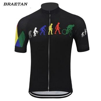 Evolution kolarstwo jersey mężczyźni czerwony zielony czarny z krótkim rękawem odzież rowerowa odzież rowerowa jersey ubrania do jazdy rowerem braetan