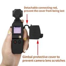 Osmo kieszeń futerał silikonowy aparatu Pokrywa ochronna z pokrywką obiektywu + pasek na szyję smycz dla DJI osmo kieszeni przegubu kamery akcesoria