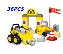 цена на 36-90 PCS Plastic DIY truck car assembly building blocks Toy car for Children Christmas Gift