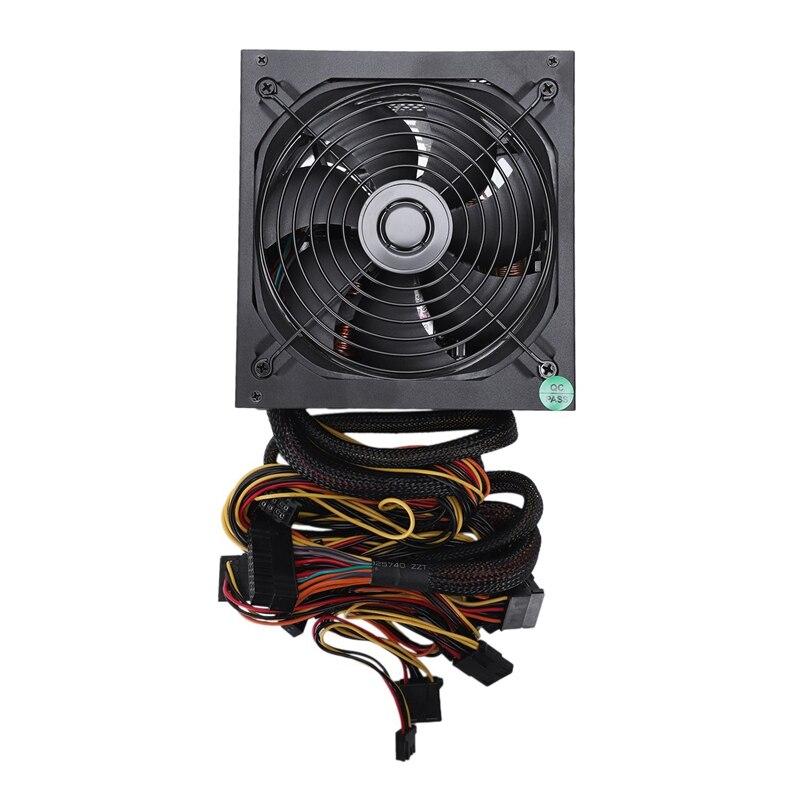 165-260V Max 1000W alimentation Psu Pfc 14Cm ventilateur silencieux 24Pin 12V Pc ordinateur Sata Gaming Pc alimentation pour Intel pour Amd Comp