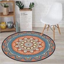 Новые персидские круглые ковры для гостиной декоративные коврики