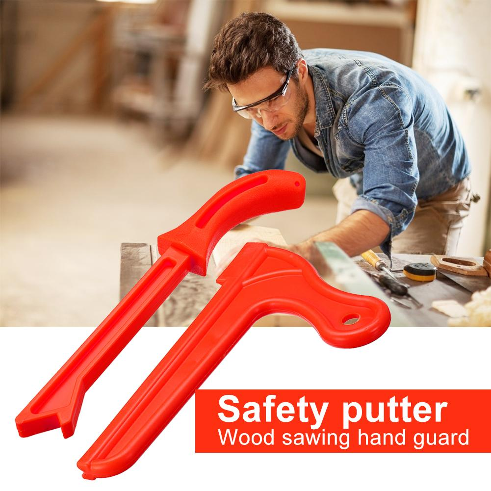 Woodworking Safety Hand Protection Sawdust For Carpentry Wood Saw Push Stick Set Red Strong ABS Body Structure Durable