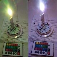 Skybesstech D90mm 0 6 W 1LED Streifen Licht Direkt ladung 24 schlüssel IR Fernbedienung RGB 16 Farbwechsel LED-licht quelle probe 1pc
