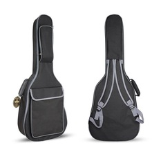 40/41 Inch Oxford Fabric Acoustic Guitar Gig Bag Waterproof Backpack 10mm Cotton Double Shoulder Straps Padded Soft Case