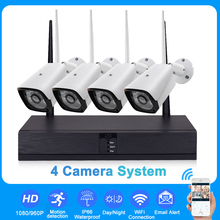 960/1080P 4CH Wireless Surveillance Security System With 4pcs IP Waterproof Camera CCTV NVR Outdoor Night Vision EU/UK/US/AUPlug