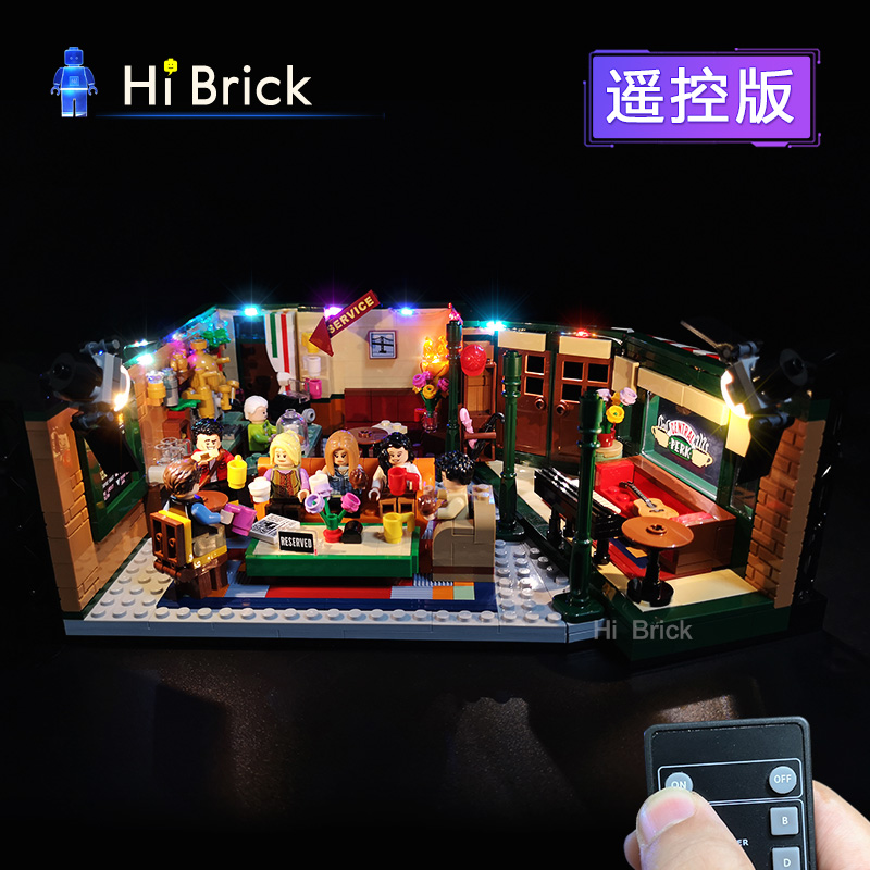 Light Creative Compatible LEGOe 21319 Classic American Drama Friends Big Bang Theory Cafe LED Lighting Group Bricks Toys Gifts