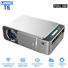 UNIC T6 LED 3200LM Projector 1080P Full HD HDMI WIFI LCD Home Theater Media Play
